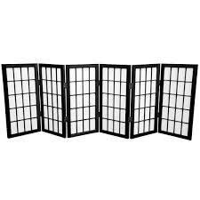 Shoji Screen Room Divider by Handmade Wood Paper 2 Foot 3 Panel Miniature Windowpane Shoji