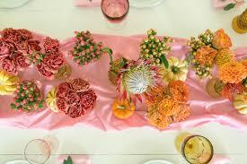 beutifull pink orange fall tablescape u2013 a beautiful mess