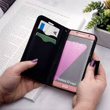lg v30 premium 2 tone leather folding wallet case black