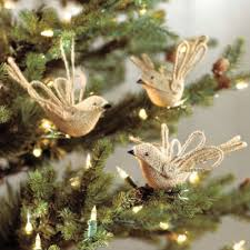 diy burlap bird ornaments and more