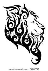 leo head tribal tattoo vector stock vector 202687489 shutterstock