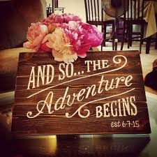 wedding wishes adventure and so the adventure begins painted wood sign box white