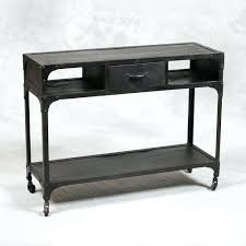 Hairpin Leg Console Table Industrial Console Table With Drawers Uk Wheels Planked Farmhouse