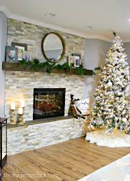 Victoria Basement Outlet Diy Stacked Stone Fireplace Where There Was None From Thrifty