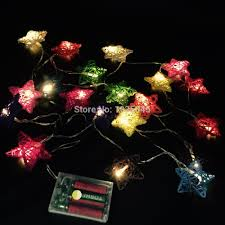 20 set handmade star rattan string lights fairy light ideas
