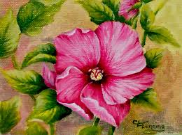 acrylic painting ideas for beginners rose of sharon acrylics