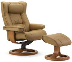 Wooden Recliner Chair Fjords Regent Ergonomic Leather Recliner Chair Ottoman