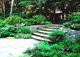 design backyard ideas for landscaping a hill design green grass