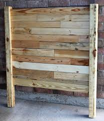 Headboards Made With Pallets Diy Pallet Headboard Natural Look Pallet Furniture Plans