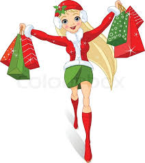 christmas shopping bags christmas shopping illustration of a girl with shopping bags