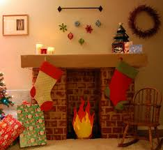 cardboard fireplace for kids