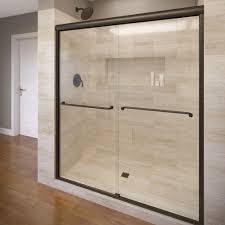 48 Inch Glass Shower Door American Standard Ovation 48 In X 72 In Semi Frameless Bypass