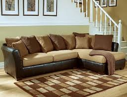 Sofa With Pillows Leather Sofa Decorative Pillows Brown Colors