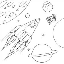 Coloriages de lespace  Fusée  Page 2