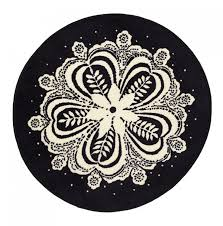 round black and white rug roselawnlutheran