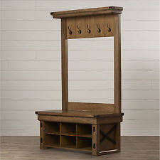 hall tree storage bench with coat rack kids garage she benches for