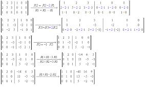 inverse of a matrix by gauss jordan elimination math help