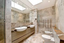 sydney semi recessed sink bathroom contemporary with wall mounted