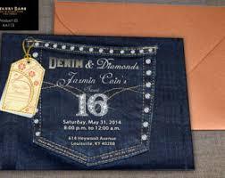 denim and diamonds birthday anniversary or by swankybash on etsy