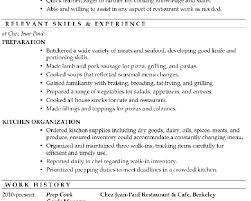 Cook Job Description For Resume by 100 Culinary Resume Skills 18 Pastry Chef Resume Sample