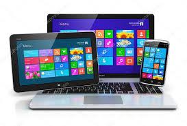 ecran tactile pc bureau appareils mobiles avec interface à écran tactile photographie