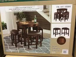 universal dining room furniture universal furniture counter height 5pc dining set costco 1000894
