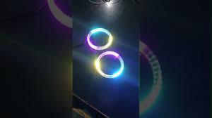 app controlled car lights rgb app control car led light halo angel eye car lighting