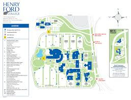 Michigan State Campus Map by Parking And Campus Buildings Henry Ford College