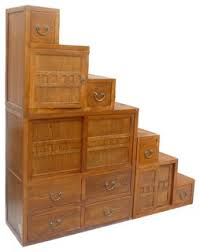 Triangle Cabinets This Is A Japanese Style Step Tansu Cabinet With Natural Wood