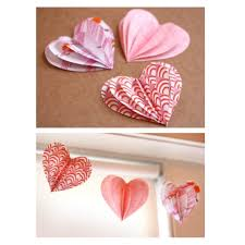 heart decorations paper heart decorations diy garland crafts kids