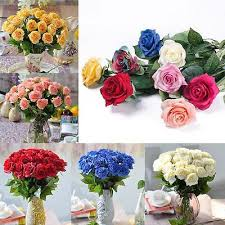 Flowers For Home Decor 10 20 Head Real Latex Touch Rose Flowers For Wedding U0026 Home Design