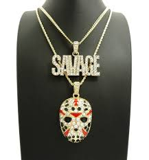 hip hop jewelry necklace images 14k gold savage hockey mask pendant hip hop chain bling jewelz JPG