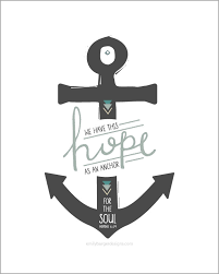 Love Anchors The Soul Print - sale we have this hope as an anchor for the soul hand lettered