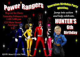 3 Perfect Ideas To Create Power Ranger Birthday Invitations Badbrya Com