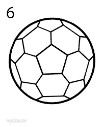 how to draw a soccer ball step by step pictures cool2bkids