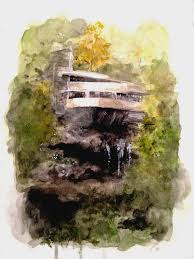 falling water frank lloyd wright by ollieviawoo on deviantart