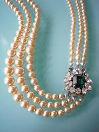 emerald pearl necklace images Emerald necklace statement necklace pearl necklace great gatsby jpg