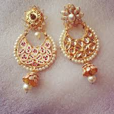 earrings online shopping white kundan pachi jhumki online shopping for earrings by ze