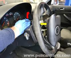 volkswagen golf gti mk iv steering wheel and air bag removal 1999