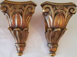 Curtain Rod Sconce Wall Sconces Corbel Scarf Swag Curtain Rod Holders Resin Set 2