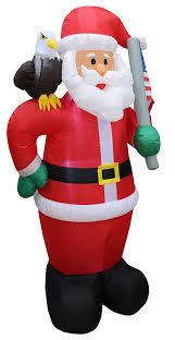 christmas inflatables 6 foot lighted christmas patriotic santa