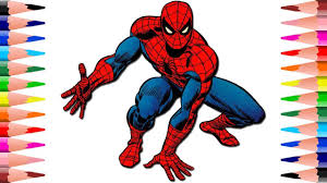 painting spiderman marvel coloring pages kids coloring