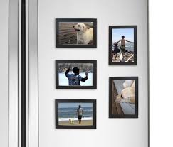 fridgepic wood magnetic photo picture frames black