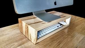 Upright Desk Organizer Ambrosia Maple Monitor Stand Desk Organizer Computer Riser