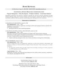 Resume For Legal Assistant Human Resources Administration Sample Resume