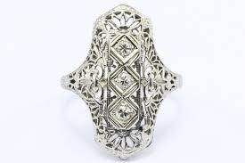 1920s engagement rings deco 14k white gold 3 european diamond ring c 1920 s