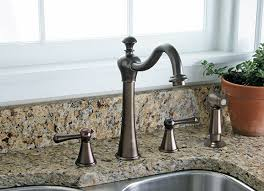 lead free two handle kitchen faucet with matching side spray