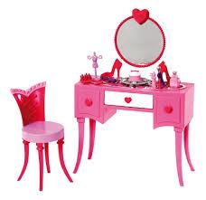 amazon com barbie glam vanity furniture set toys u0026 games