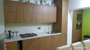 modern style kitchen in oak veneer finish jacek sobis pulse