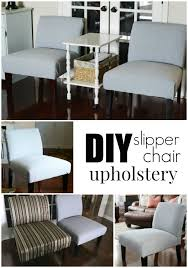 she u0027s crafty diy slipper chair upholstery